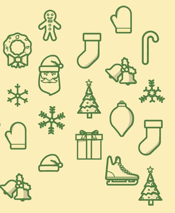christmas hoilday icons