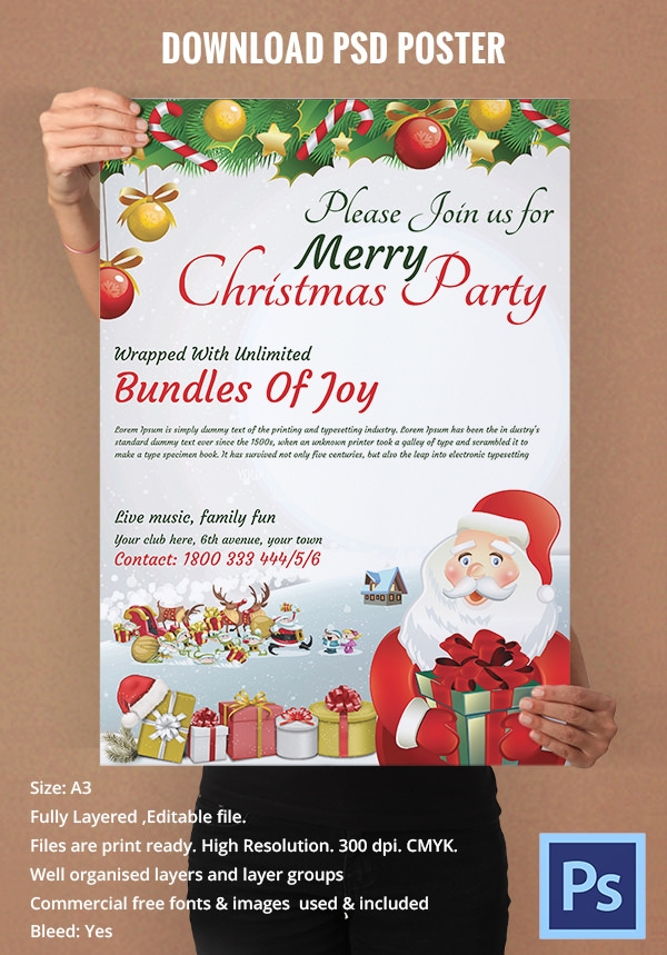 Free Christmas Posters - PSD, JPG, AI Illustrator Download