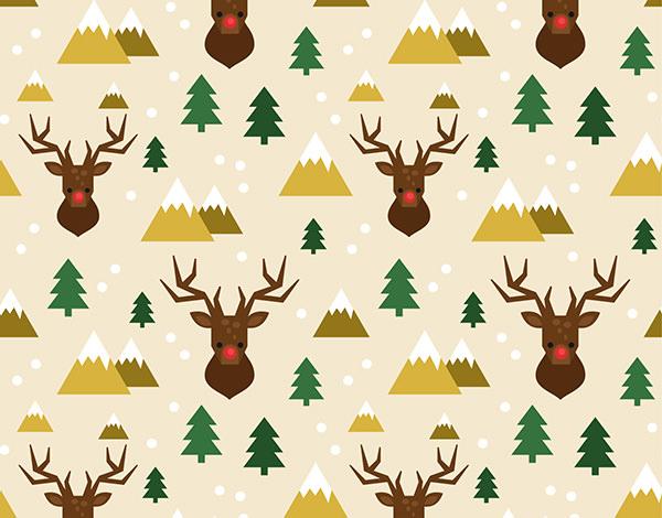 christmas-reindeer-pattern