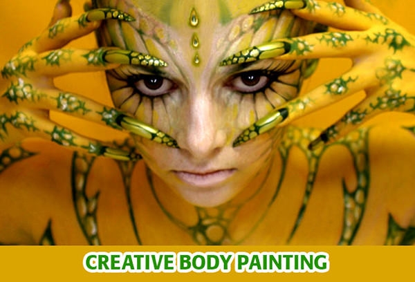 creative body painting art