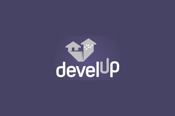 develup unique arrow logo