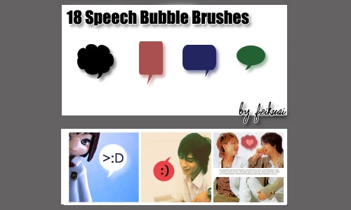 dialogue bubbles brushes