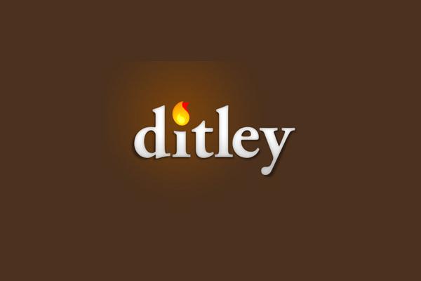 ditley flame logo design