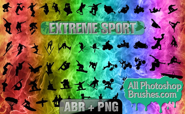 extreme-sport photoshop-brushes