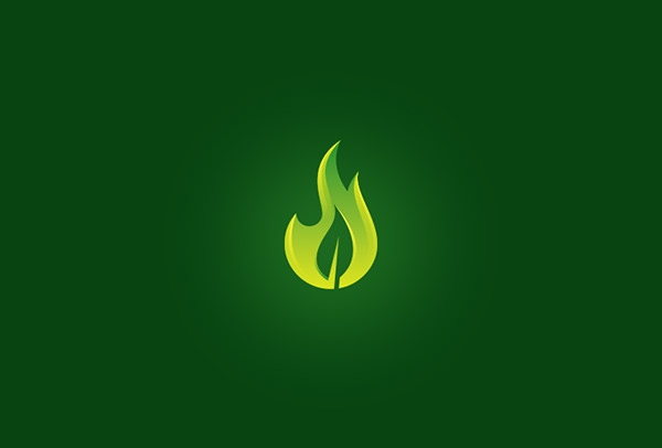flame leaf logo
