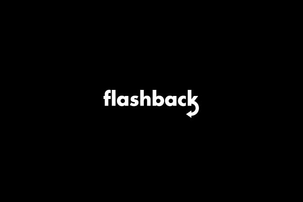 flash back logo design
