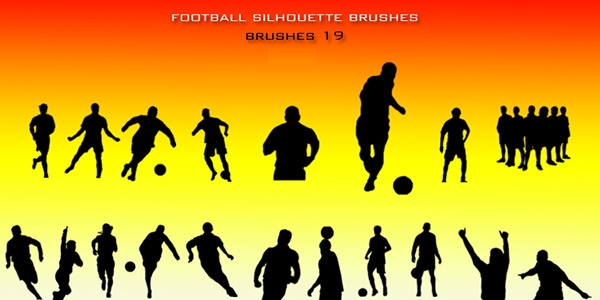 football_silhouette_brushes