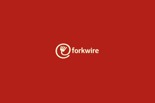 forkwire logo design