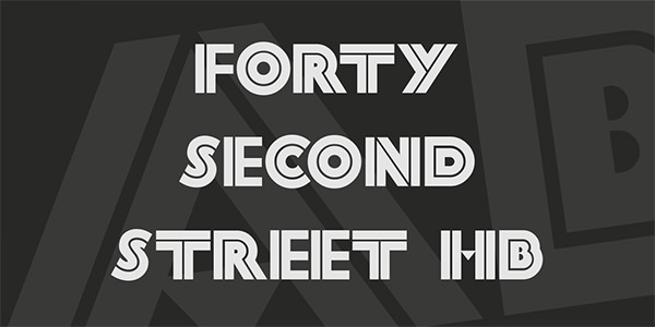fortysecondstreethb font