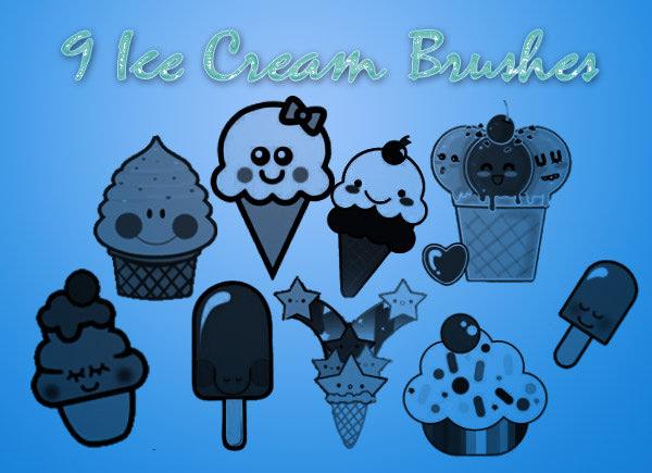 free and yammy ice_cream_brushes
