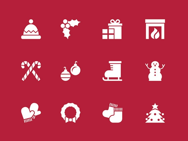 free christmas large holiday icons