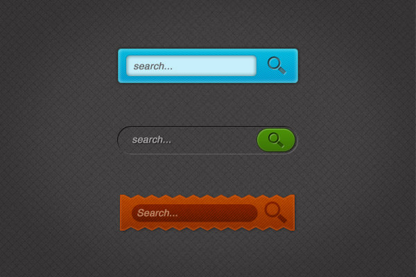 free custom search box psd