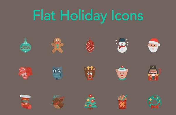free flat holiday icons