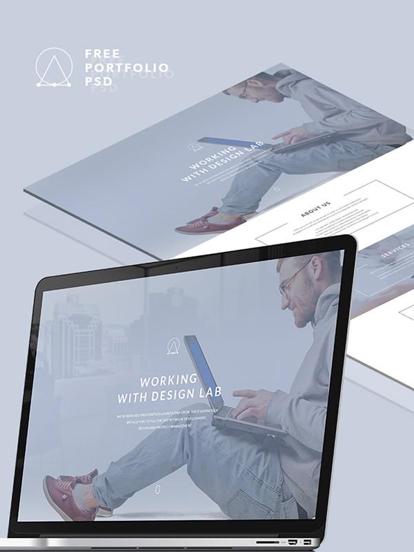 free psd landing page design