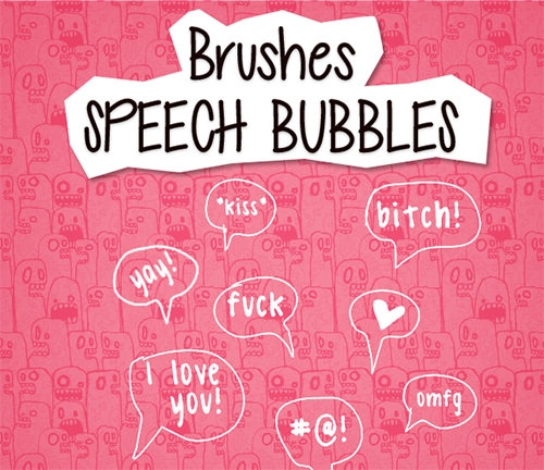 free speech_bubbles_brushes set