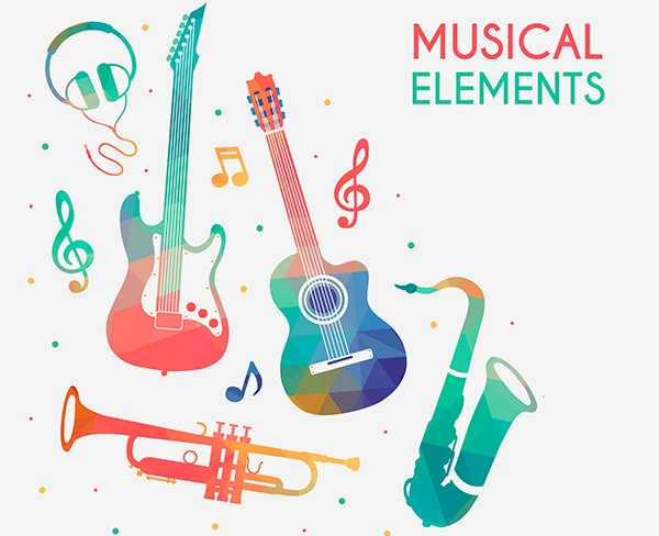 free vector musical elements