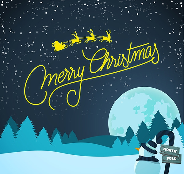 free vector snow christmas background
