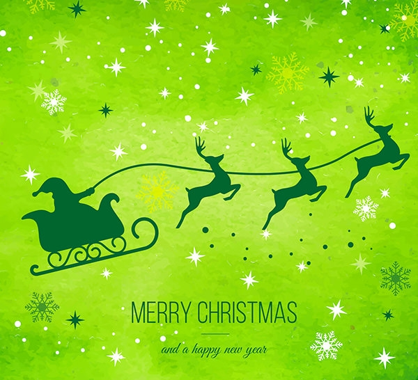 green christams reindeer background