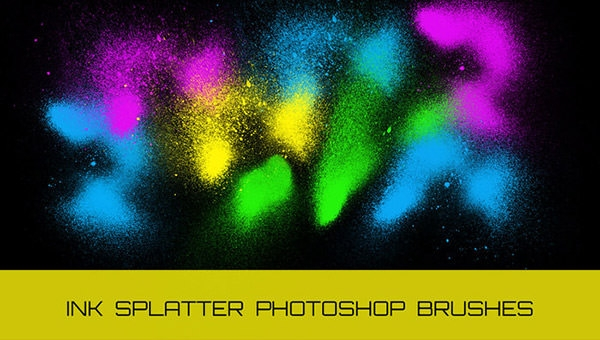 grungy-ink-splatter-sprays-photoshop-brushes