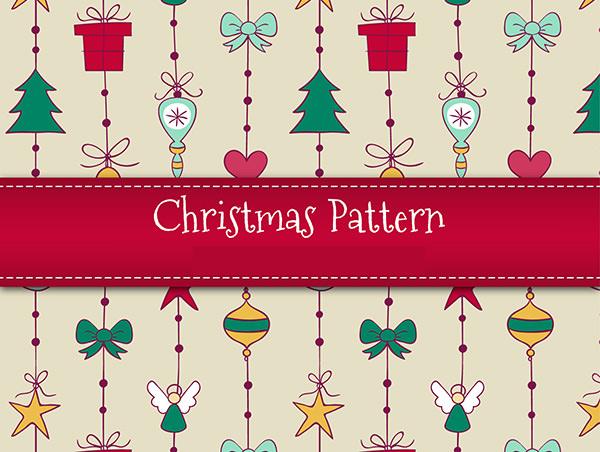 hand drawn christmas patterns