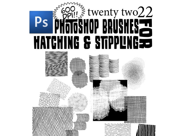 hatching and stippling free photoshop brushes