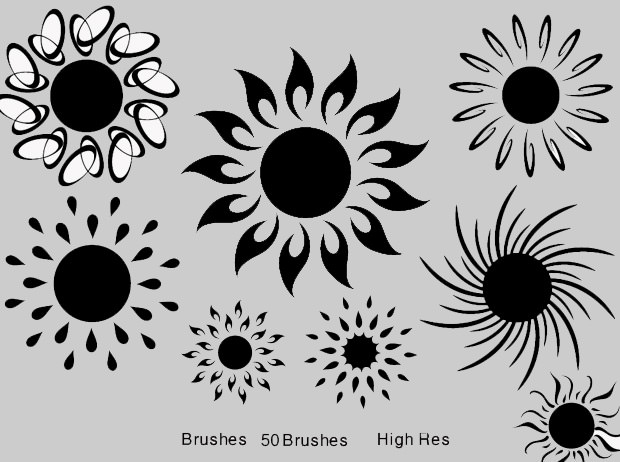 high-res sun brushes