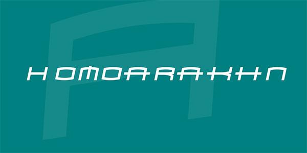 homoarakhn-font