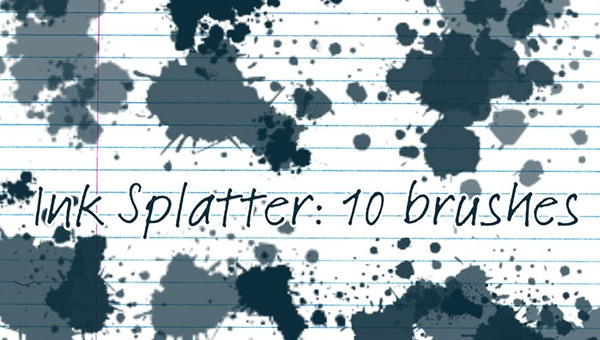 ink-splatter-brushes