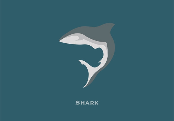 inspirational shark logo design