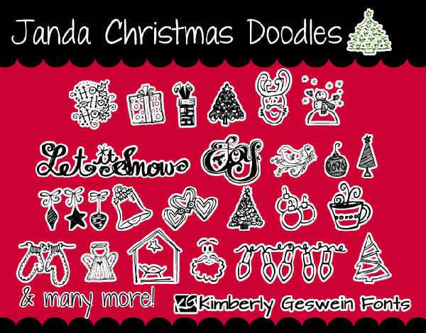 janda-christmas-doodle-font