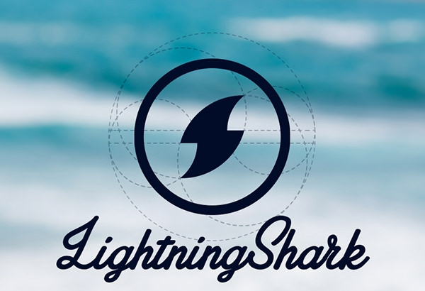 lighting shark logo design