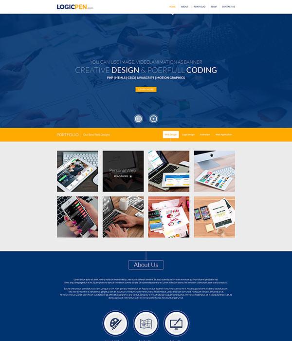 logicpen portfolio template design