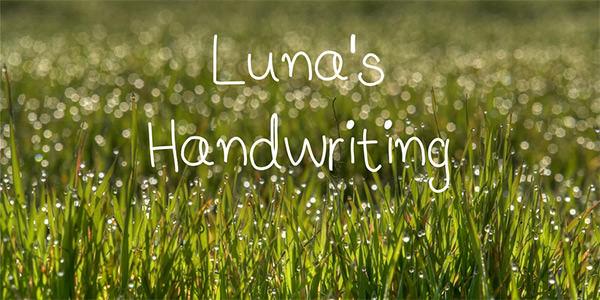 lunas-handwriting-font