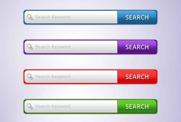 modern search box set free psd