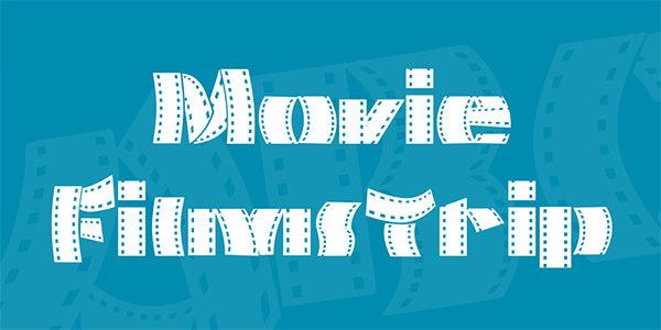 movie-filmstrip-font