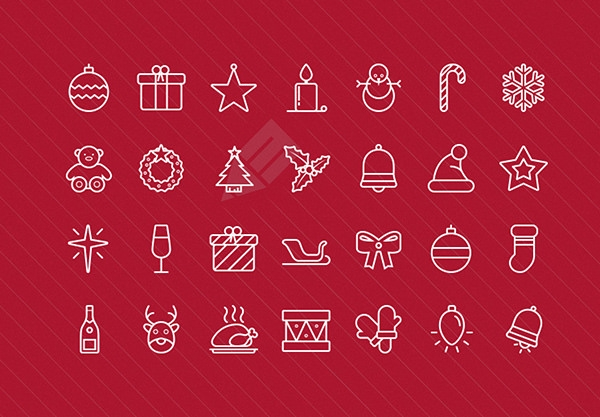 outlined free-christmas-icons