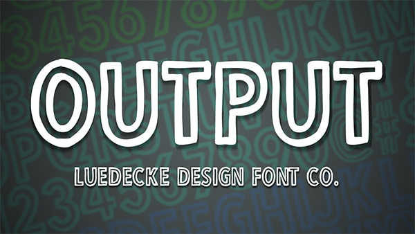 output font