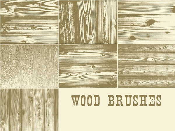 photoshop wood_brushes