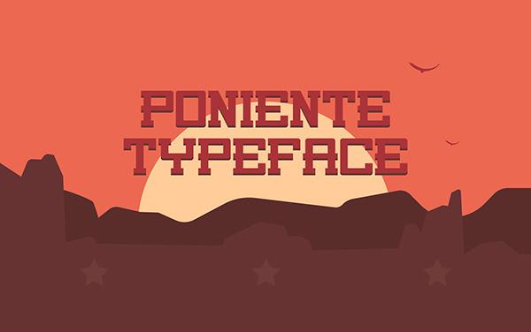 poniente free typeface font