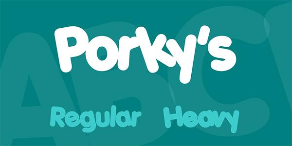 porkys-font