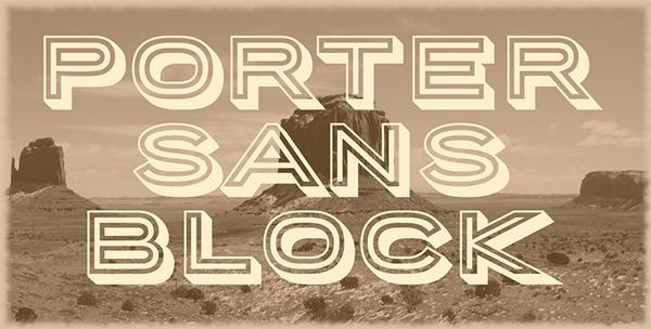 porter-sans-block-font