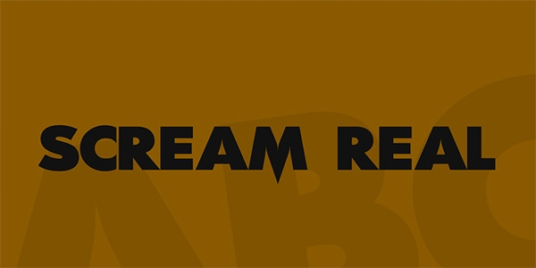 scream-real-font