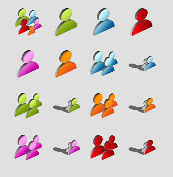 shadow styled user icons