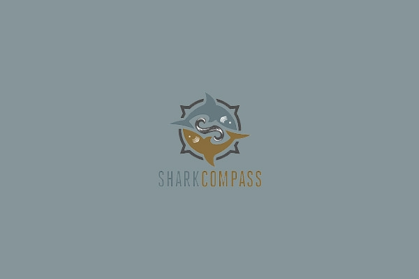 shark-compass-logo-design