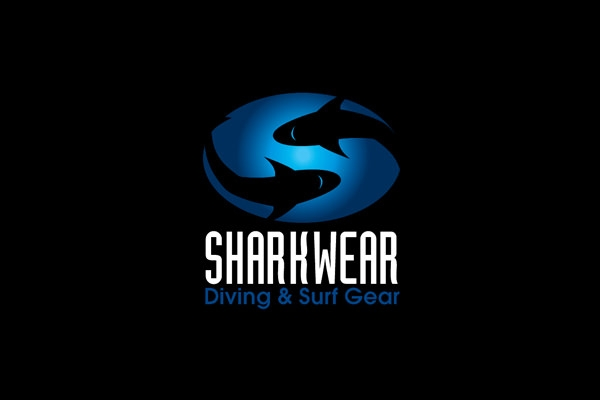 shark wear logo design