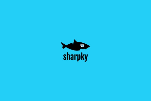 sharpy logo design