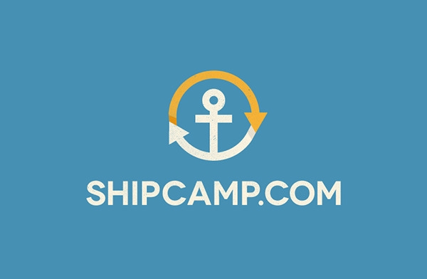 ship camp logo design