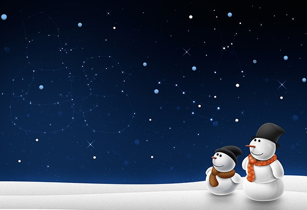 snowman-and-snowchild-christmas-wallpaper