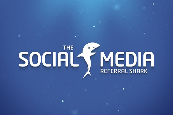 social media referral shark logo design