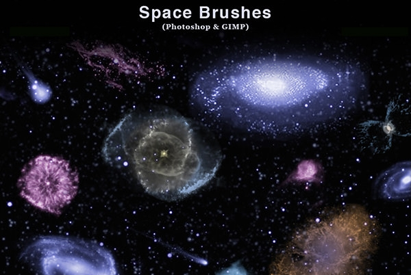 space_photoshop_and_gimp_brushes